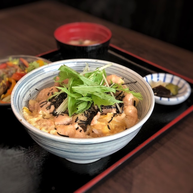 Oyako Don Set Lunch $16