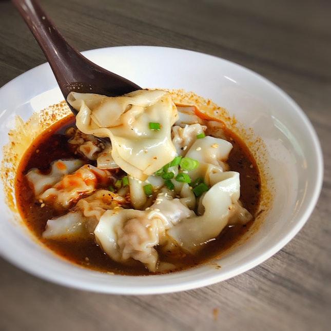 Spicy Dumpling In Red Oil $5