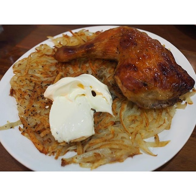It's been a long time since I last had my favourite #rosti and #ovenbaked #chicken #combo!