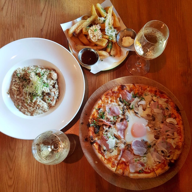 Pizza And Truffle Fries