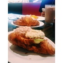 #Classic #french #croissant with balls of #egg #mayo and #seafood @ délifrance with @rebbieyang for brunch before heading to watch her play hockey!