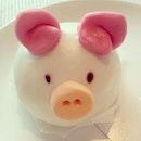 So cute piggy red bean bun!
