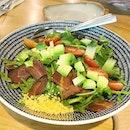 [LAVENDER] Avocado bacon salad!