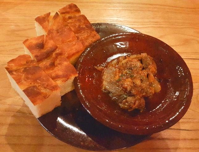 Foccacia with Onion & Garlic Relish