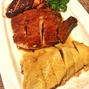 三拼 Trio of Roast Duck, Char Siew & Hainan Chicken