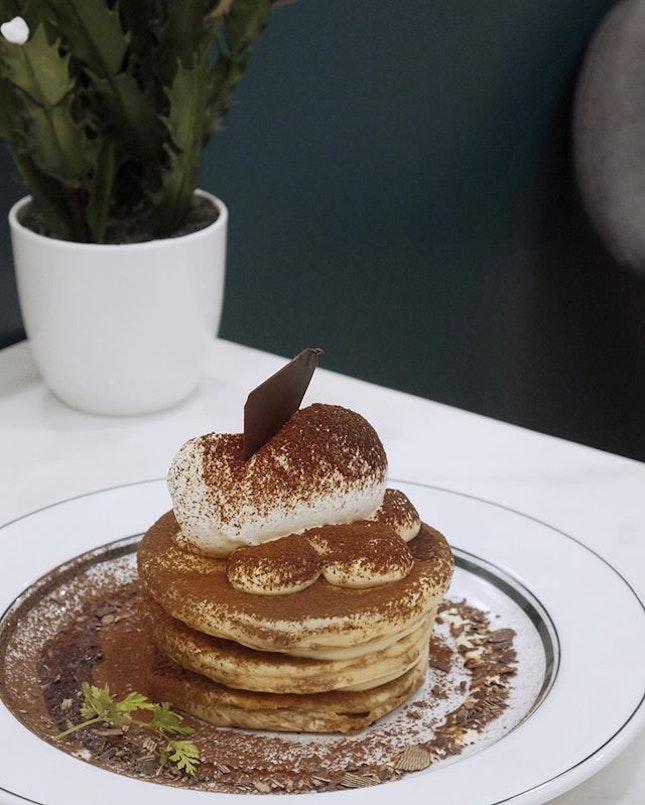 Rich Tiramisu Pancakes $15.90