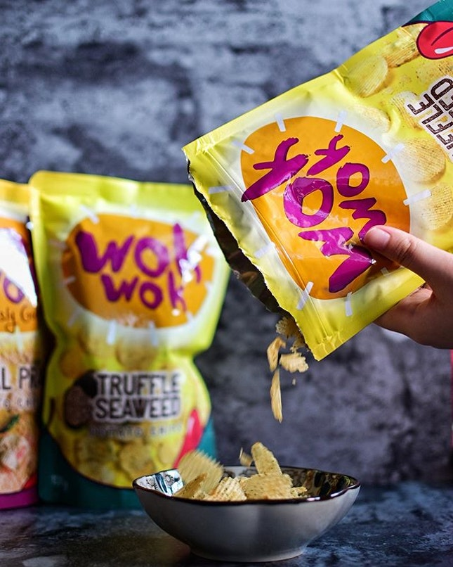 New from @wokwok.sg 😍  Loving the new flavour Truffle Seaweed Chips!