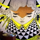 Guardian gastro-goddess #mural by #Caratoes invading our meal.