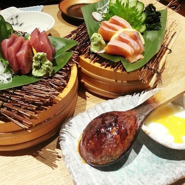 Super satisfying robatayaki dinner!