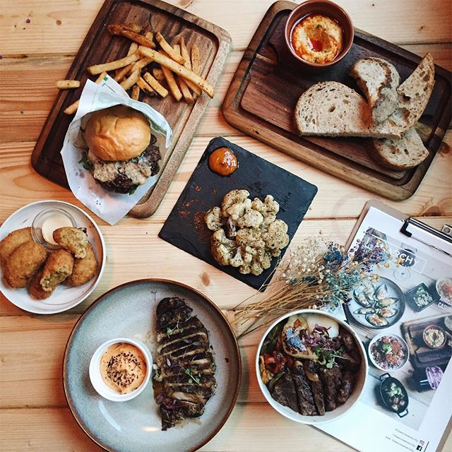 Our dinner spread at Anarchy Wine + Brew Bar last weekend.