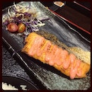 Salmon in Sumire Yakitori House.