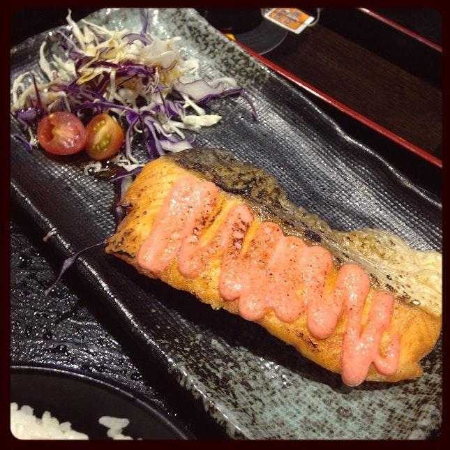 Salmon in Sumire Yakitori House.
