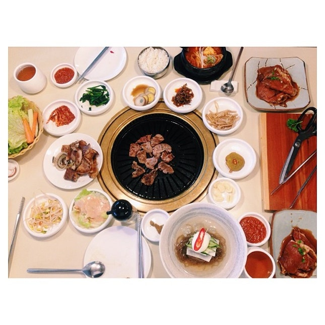 Korean Brunch; cheers to a good meal start for 2014!