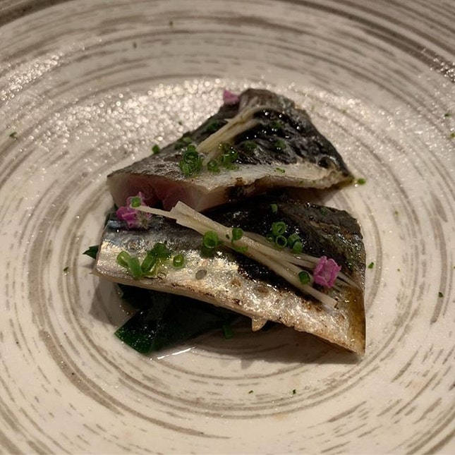 Mackerel seaweed vinegrette ❤️ loved every bite!