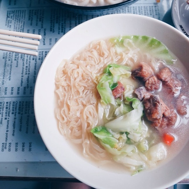 Noodles in #hongkong style with #spareribs.