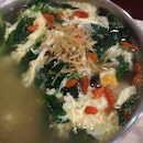 Chinese Spinach With Meatball Soup