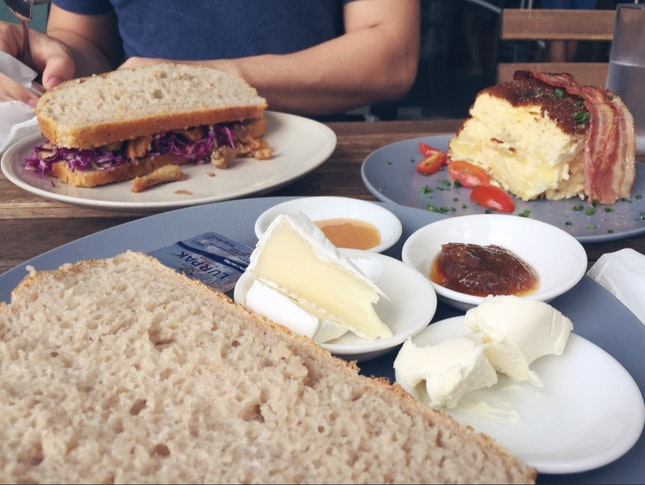 Brunch Plate 1 And Pork Sandwich