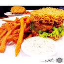Ramen burger - the food fad where you replaced buns with maggie mee.