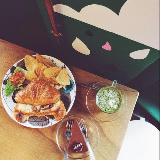 Green Tea Latte x Chocolate Truffle x Stuffed Croissant