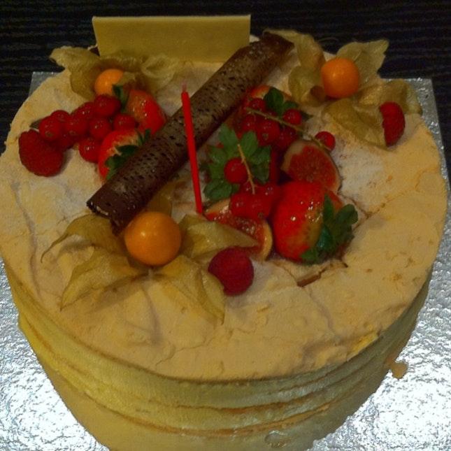 Passion Fruit Meringue Birthday Cake By Eleanor Tay