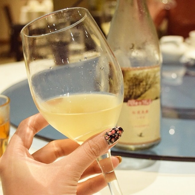 Some awesomely sweet, delicious rice #wine from Taiwan.