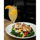 Sesame Mango + Kale Salad with Grilled Chicken Breast ($17.9++).