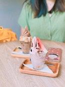 Strawberry Balsamic Ice Cream ($9)