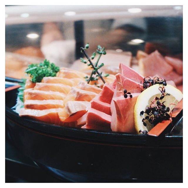 Rows upon rows of fresh sashimi 😋  Possibly the most worth it Japanese buffet I've ever eaten.
