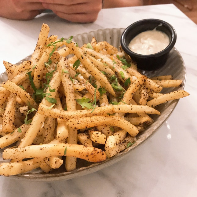 Truffle Kombu Fries ($15)