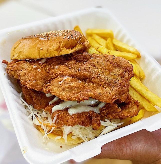 Har Cheong Gai Burger ($6.90).