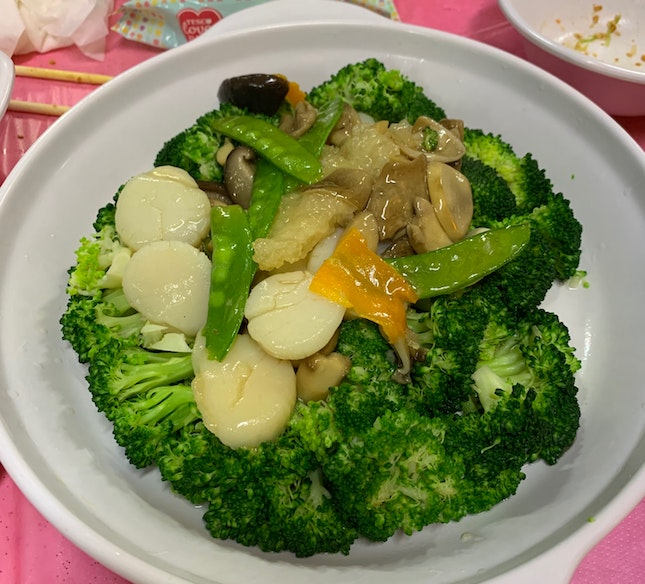 Broccoli With Scallops