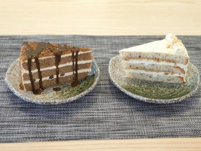 HOUJICHA CAKE | HONEY EARL GREY HAZELNUT CAKE