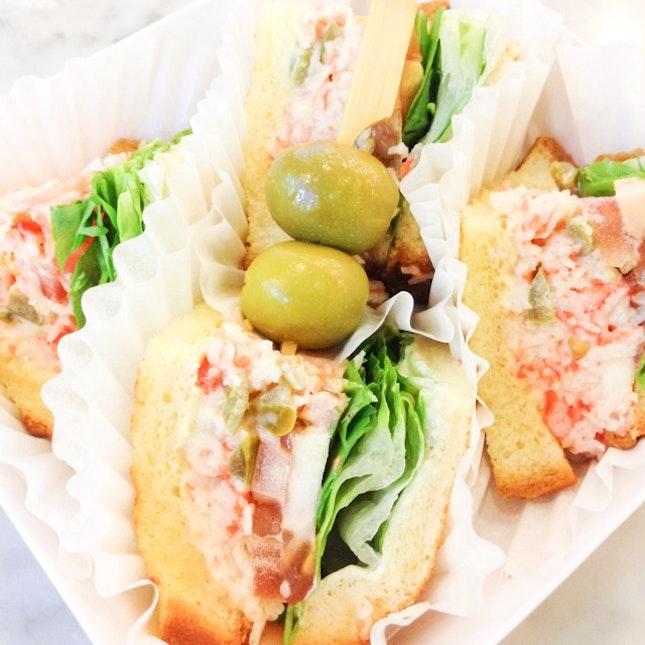 Wasabi Crabmeat Sandwich