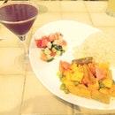 Vegetarian Tikka + Acai berry Juice