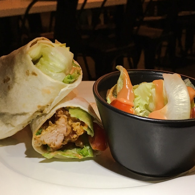Crispy Chicken Tortilla Wrap