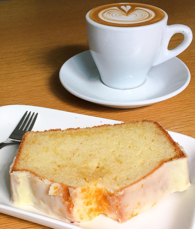 Orange Loaf Cake Slice