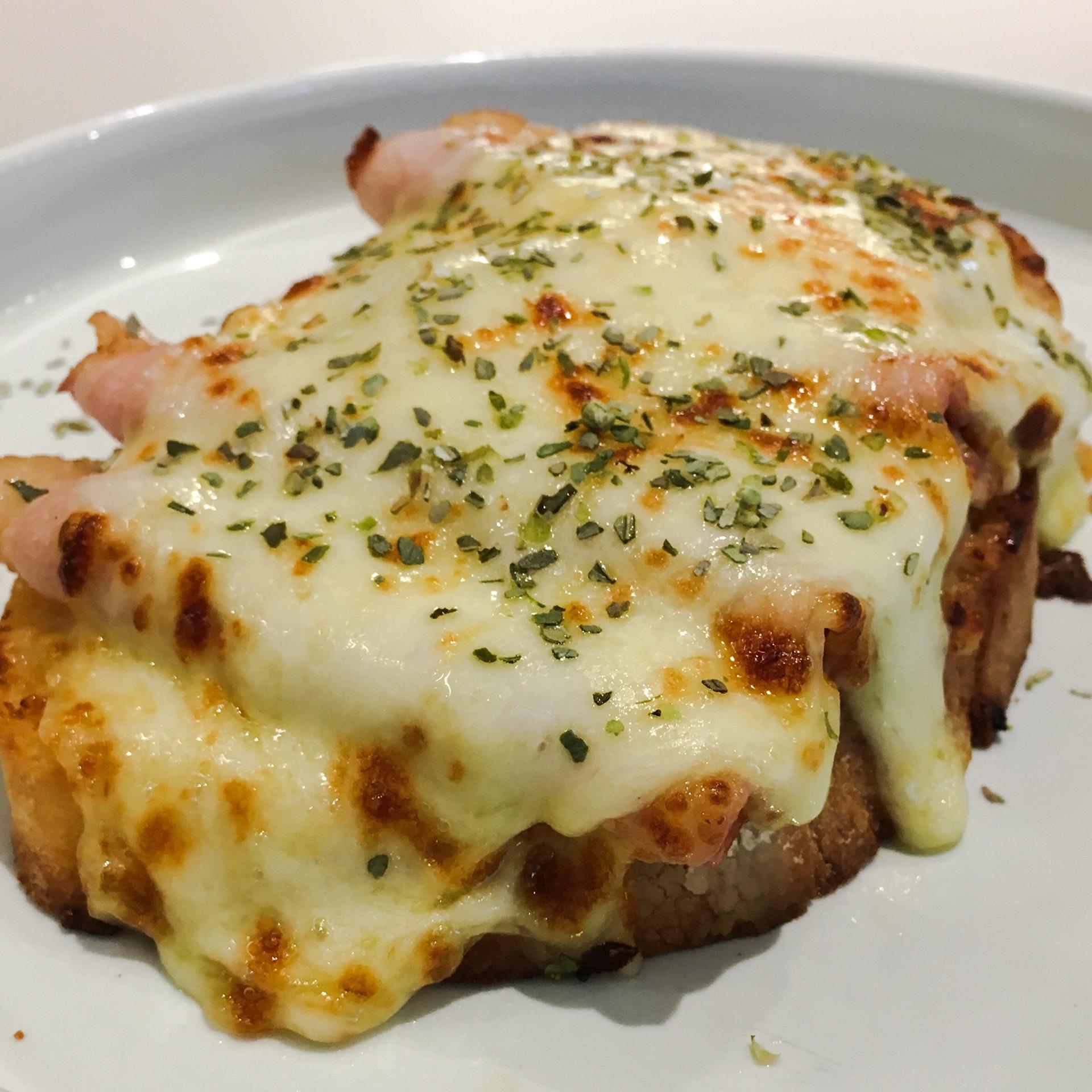 Melted Mozzarella Ham, Fermented Honey Garlic Butter, Sourdough