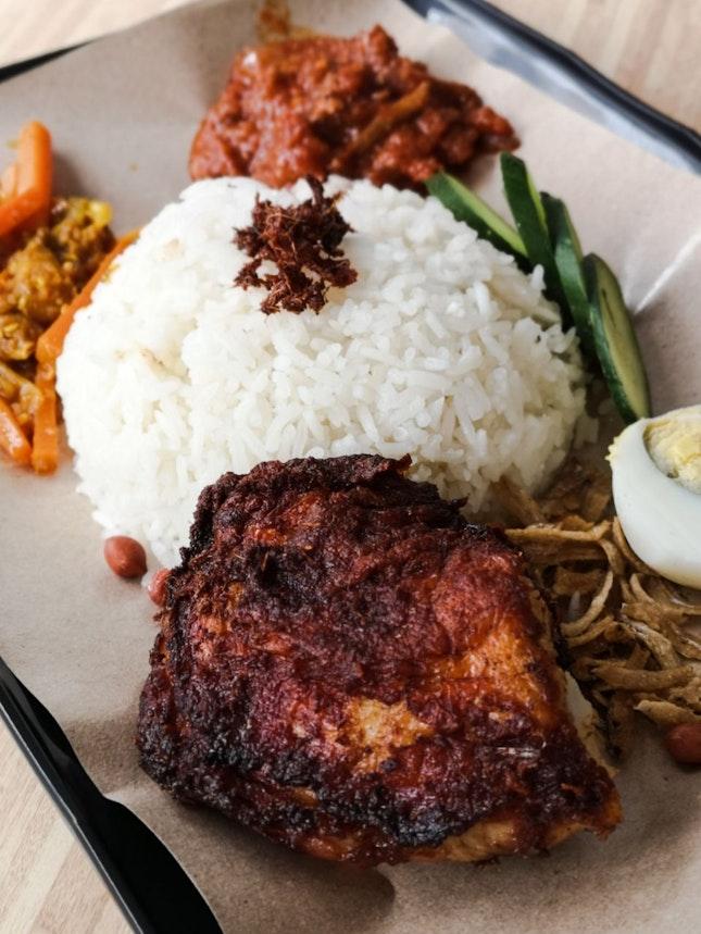 Nasi Lemak with Ayam Berempah (Thigh)