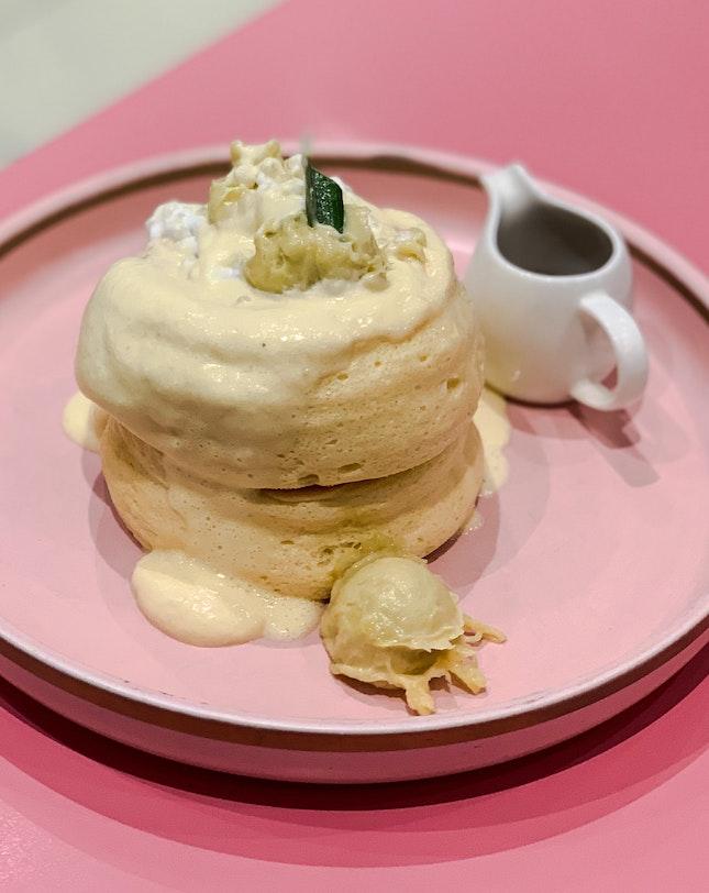 Musang King Soufflé Pancakes