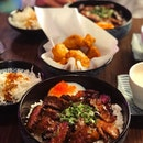 Work has been insane for the two of us but today we took time out to savour two delicious bowls of wagyu beef don!