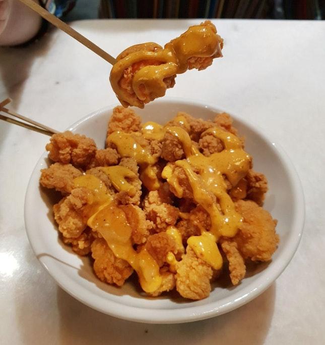 Laksa Popcorn Chicken [$11++]