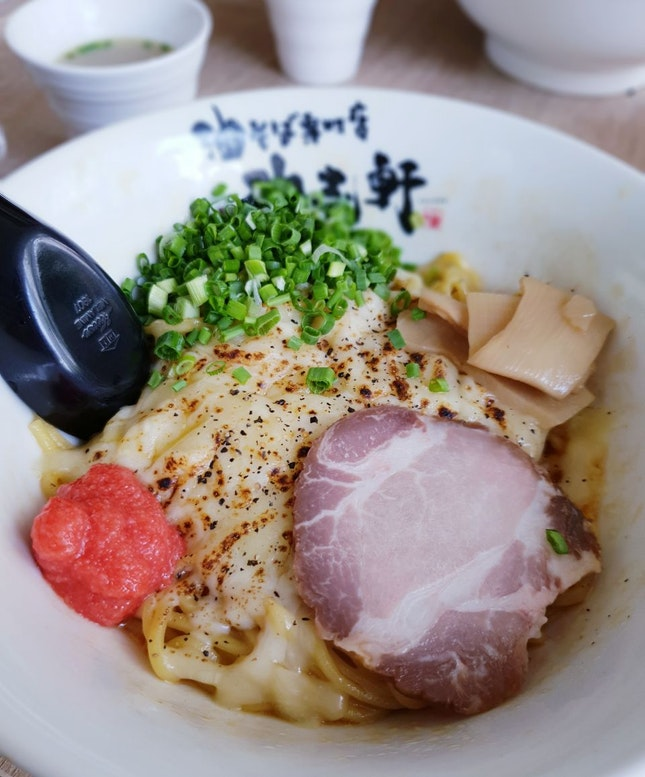 Grilled Cheese with Cod Roe Mazesoba [$16.80++]