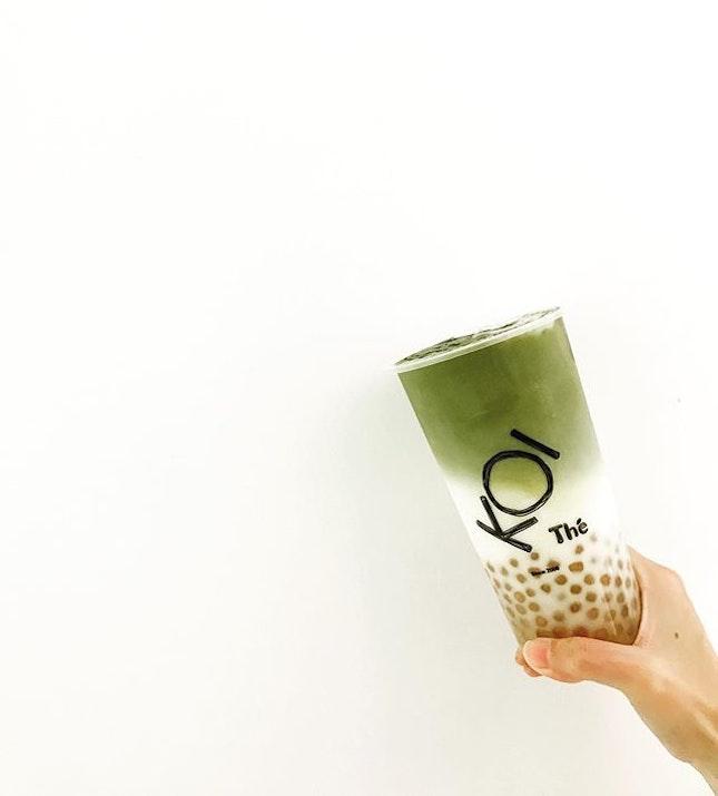 Matcha Latte 😍😍😍 Recommended sugar level: 70% and above #whywhiteworks #sgdrinks  #koicafe  #handsinframe  #foodinhands