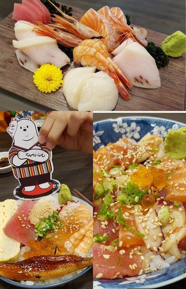 Simple fresh Sashimi Don.
