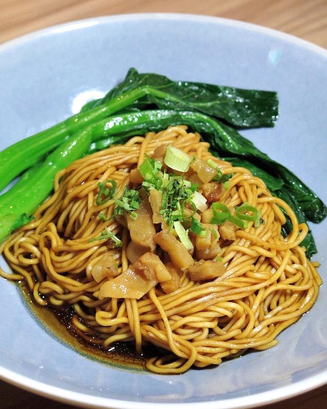 Signature Crispy Pork Lard Truffle Noodle 特制松露豬油渣拉麵 [$12]