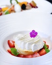 Baked Cheesecake with Lemon Espuma and Strawberries [$18]