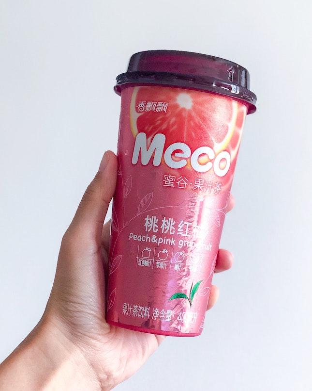 香飄飄蜜谷果汁茶桃桃紅柚 Meco Peach & Pink Grapefruit [$1.80]