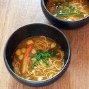 Fisherman's Noodles, Lobster Dashi, Japanese Bay Scallops, Snow Crab, Somen [$36]