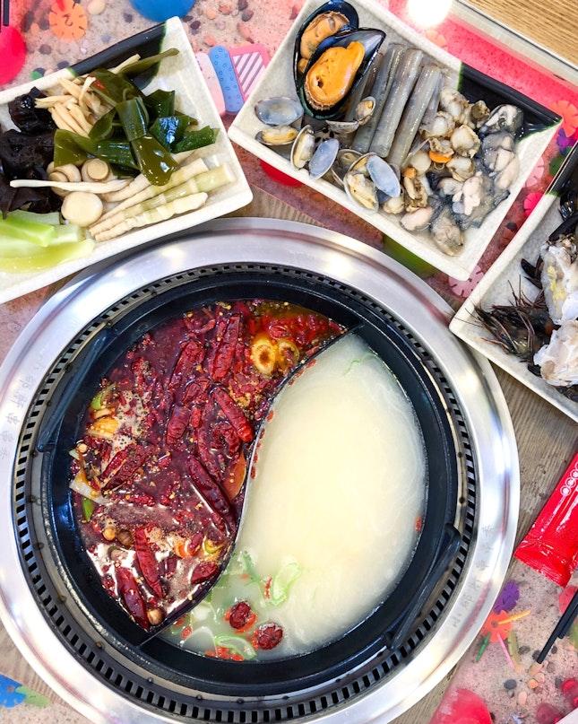 Xiao Jun Gan Chuan Chuan Xiang 小郡肝串串香 Steamboat Buffet [$25.80+/pax on Fri to Sun]