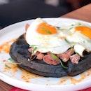 Har Cheong Kai with Buah Keluak Waffle [$20]